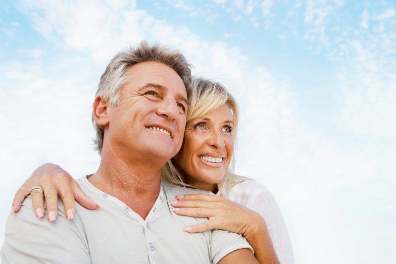 Smiling mature couple.
