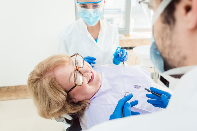 At-risk patient at dental appointment