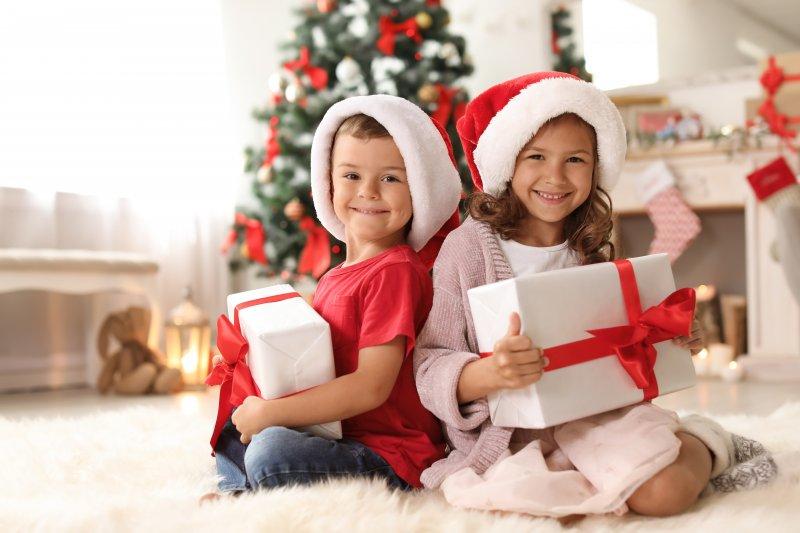 Children on Christmas